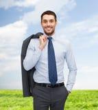 Χαμογελώντας νέος και όμορφος επιχειρηματίας Στοκ Φωτογραφία