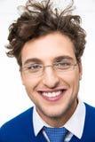 χαμογελώντας νεολαίες ατόμων γυαλιών Στοκ εικόνα με δικαίωμα ελεύθερης χρήσης