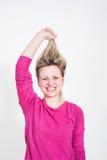 χαμογελώντας νεολαίες πορτρέτου κοριτσιών Στοκ Φωτογραφίες