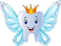 Χαμογελώντας νεράιδα δοντιών κινούμενων σχεδίων διανυσματική απεικόνιση