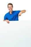 Χαμογελώντας πίνακας εκμετάλλευσης ατόμων Στοκ φωτογραφία με δικαίωμα ελεύθερης χρήσης