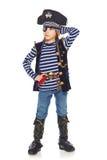 Χαμογελώντας πειρατής μικρών παιδιών Στοκ Εικόνες