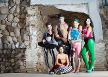 Χαμογελώντας συγκρότημα Cirque Στοκ εικόνες με δικαίωμα ελεύθερης χρήσης