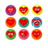 Χαμογελώντας χαρακτήρες καρδιών Στοκ Φωτογραφία