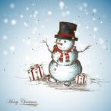 χαμογελώντας χιονάνθρωπ&om Στοκ Φωτογραφία