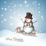 χαμογελώντας χιονάνθρωπ&om Στοκ Εικόνες