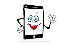 Χαμόγελα smartphone κινούμενων σχεδίων Στοκ φωτογραφία με δικαίωμα ελεύθερης χρήσης