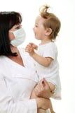 χαμόγελο γιατρών μωρών Στοκ φωτογραφία με δικαίωμα ελεύθερης χρήσης