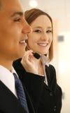 χαμόγελο εξυπηρέτησης πελατών στοκ φωτογραφία