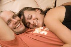 χαμόγελο ζευγών Στοκ φωτογραφίες με δικαίωμα ελεύθερης χρήσης