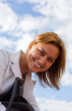 χαμόγελο ηλιόλουστο Στοκ εικόνες με δικαίωμα ελεύθερης χρήσης