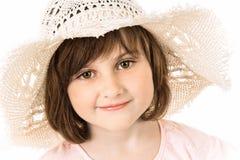 χαμόγελο καπέλων κοριτσ& στοκ εικόνα