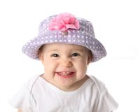 χαμόγελο καπέλων μωρών Στοκ Φωτογραφίες