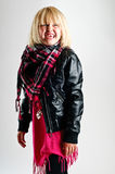 χαμόγελο κοριτσιών μόδας Στοκ Φωτογραφίες