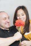 χαμόγελο λουλουδιών Στοκ φωτογραφίες με δικαίωμα ελεύθερης χρήσης