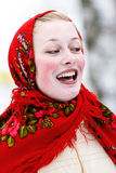 χαμόγελο μαντίλι για το κεφάλι κοριτσιών Στοκ Εικόνες