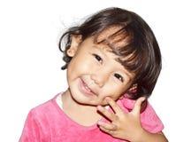 Χαμόγελο μικρών κοριτσιών Στοκ Εικόνα