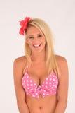 Χαμόγελο ξανθό bikini Στοκ Εικόνα