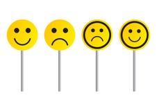 χαμόγελο οδικών σημαδιών διανυσματική απεικόνιση