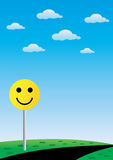χαμόγελο οδικών σημαδιών Στοκ εικόνα με δικαίωμα ελεύθερης χρήσης