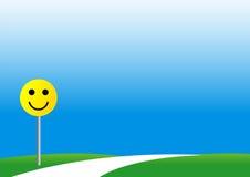 χαμόγελο οδικών σημαδιών Στοκ φωτογραφία με δικαίωμα ελεύθερης χρήσης