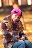 χαμόγελο πάρκων κοριτσιών Στοκ Φωτογραφία