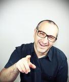 χαμόγελο πορτρέτου ατόμων γυαλιών Στοκ Φωτογραφία