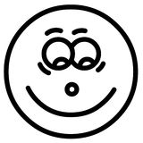 χαμόγελο προσώπου Στοκ εικόνα με δικαίωμα ελεύθερης χρήσης