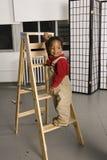 χαμόγελο σκαλών μωρών στοκ φωτογραφίες