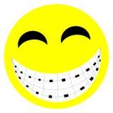 χαμόγελο στηριγμάτων διανυσματική απεικόνιση