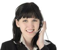 χαμόγελο υφασμάτων πελατών Στοκ φωτογραφία με δικαίωμα ελεύθερης χρήσης