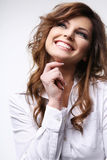 χαμόγελο brunette Στοκ εικόνες με δικαίωμα ελεύθερης χρήσης