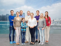 χαμόγελο ανθρώπων ειρήνης ομάδας φιλίας Στοκ Εικόνες