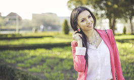 Χαμόγελο γυναικών μόδας Στοκ Φωτογραφία