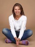 Χαμόγελο ενός όμορφου κοριτσιού Στοκ Φωτογραφίες