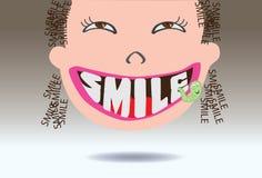 Χαμόγελο κινούμενων σχεδίων χαριτωμένο Στοκ εικόνα με δικαίωμα ελεύθερης χρήσης