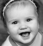 Χαμόγελο κοριτσάκι Στοκ φωτογραφία με δικαίωμα ελεύθερης χρήσης