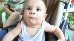 χαμόγελο μωρών απόθεμα βίντεο