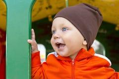 χαμόγελο πορτρέτου μωρών Στοκ Εικόνες