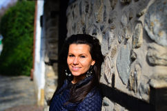 χαμόγελο brunette στοκ φωτογραφίες με δικαίωμα ελεύθερης χρήσης