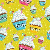 Χαμόγελο cupcake Στοκ Εικόνες