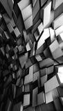 Χαοτικά λάμποντας polygonal τεμάχια, τρισδιάστατα απεικόνιση αποθεμάτων