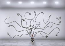 Χαοτικός άσπρος τοίχος βελών στοκ φωτογραφία με δικαίωμα ελεύθερης χρήσης