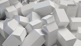 Χαοτικός σωρός των κενών χαρτοκιβωτίων χαρτονιού απεικόνιση αποθεμάτων