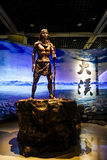 Χαράζοντας άγαλμα χαλκού στο μουσείο Chongqing τριών φαραγγιών Στοκ εικόνα με δικαίωμα ελεύθερης χρήσης