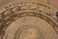 Χαράζοντας σε ένα πάτωμα του αρχαίου ναού, Polonnaruwa, Στοκ εικόνες με δικαίωμα ελεύθερης χρήσης