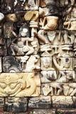 χαράζοντας khmer πέτρα Στοκ Φωτογραφίες