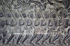 χαράζοντας khmer πέτρα Στοκ Εικόνες