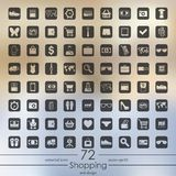 χαράσσοντας εκκολαμμένο εικονιδίων διάνυσμα ύφους αγορών απεικόνισης καθορισμένο Στοκ φωτογραφία με δικαίωμα ελεύθερης χρήσης