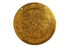 χαράσσοντας gong ασπίδα Στοκ Φωτογραφία